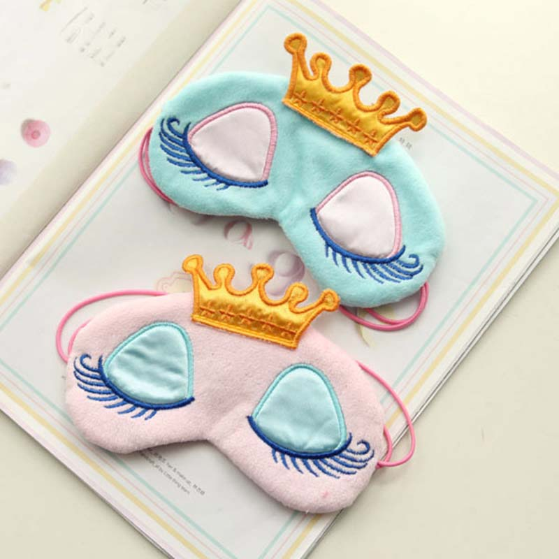 Fashion Cute  Eye Mask Polyester Variety Sleeping Mask Plush Eye Shade Cover Eyeshade Relax Mask For Travel Home Party Gifts