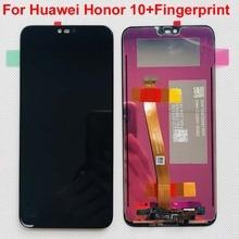 עם טביעת אצבע 5.84 מקורי LCD עבור HUAWEI Honor 10 LCD תצוגת מסך מגע Digitizer עבור Huawei honor10 COL L29 COL AL10