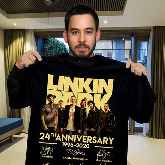 Linkin Park Band 24Th Anniversary 1996 2020 Member Signed Gift Fan Shirt S 5Xl
