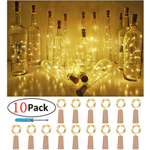 Wine Bottle Cork Lights,Battery Operated LED Shape Silver Copper Wire Colorful Fairy Mini String Lights for Christmas Party