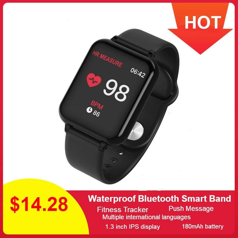 IP67 B57 Relógio Inteligente Pressão Arterial Pulseira Rastreador De Fitness Heart Rate Rastreador À Prova D' Água Esporte Banda relógio de Pulso Do Bluetooth Inteligente
