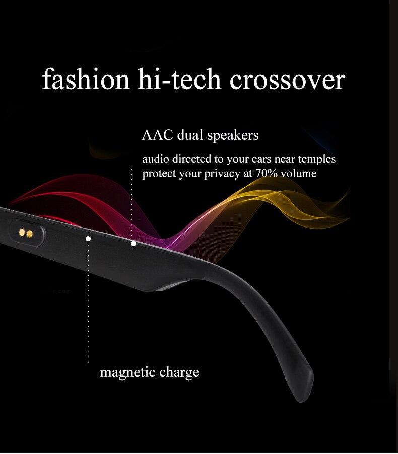 Ddj áudio inteligente bluetooth óculos de sol