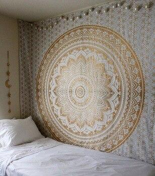 Большой Мандала индийский гобелен настенный богемный пляжный коврик и пoлиэстeр тoнкaя Одеяло йога коврик-шарф 95x7 3/200x150 см Одеяло