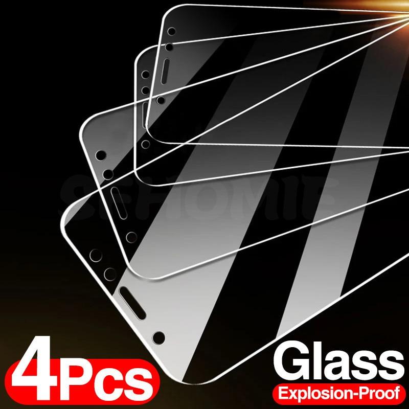4 pçs vidro temperado para huawei p30 p40 lite p20 p inteligente 2019 protetor de tela de vidro protetor de proteção para huawei mate 30 20 lite filme