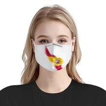 Испанский пользовательские флаг шаблон 4шт фильтр маски вставить анти-пыли углерода маски многоразовые анти-инфекцией лицом маски крылья ангела Испания
