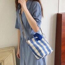 цена на Fashionable new cloth bag canvas diagonal bag girlish one-shoulder diagonal small cloth bag plaid bag