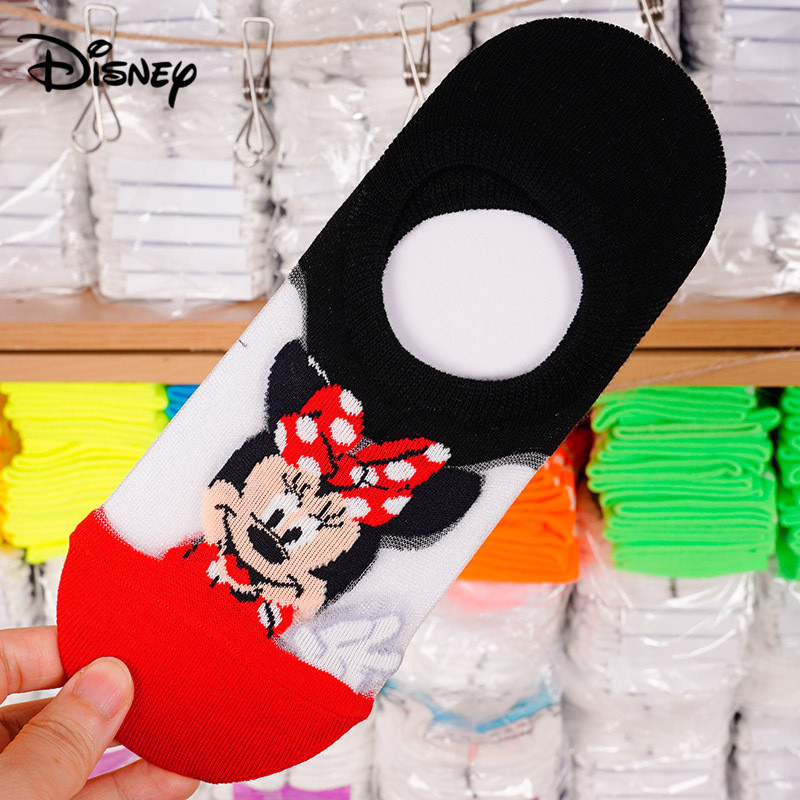 Disney Mickey Thin Section Mesh Female Socks Cute Donald Duck Cartoon Shallow Mouth Boat Socks