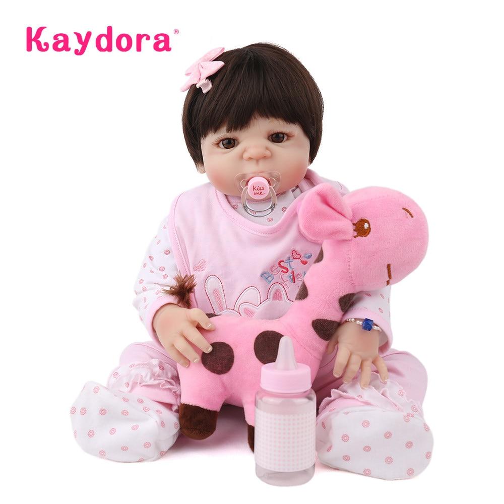 Kaydora 22 นิ้ว 55 ซม.handmade boneca reborn ทารกตุ๊กตา lol bebe ที่สมจริง boneca ทารกแรกเกิดอาบน้ำเด็กวัยหัดเดินเด็กคริสต์มาสของขวัญ-ใน ตุ๊กตา จาก ของเล่นและงานอดิเรก บน   1