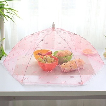 1PC Newest Umbrella Style Food Cover Anti Fly Mosquito Meal Cover Lace Table Home Using Food Cover Kitchen Gadgets Cooking Tools 3
