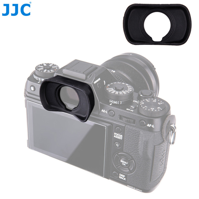 JJC Eyepiece Eyecup Viewfinder Eye Cup for Fuji X T4 X T3 X T2 X T1 XT4 XT3 XT2 XT1 X H1 XH1 GFX100 GFX 50S Replaces  EC XT L