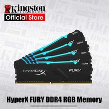 Kingston memória ram ddr4, memória kingston hyperx fury ddr4 rgb 2666 mhz ddr4 cl15 dimm xmp 8gb 16gb rams de memória do desktop