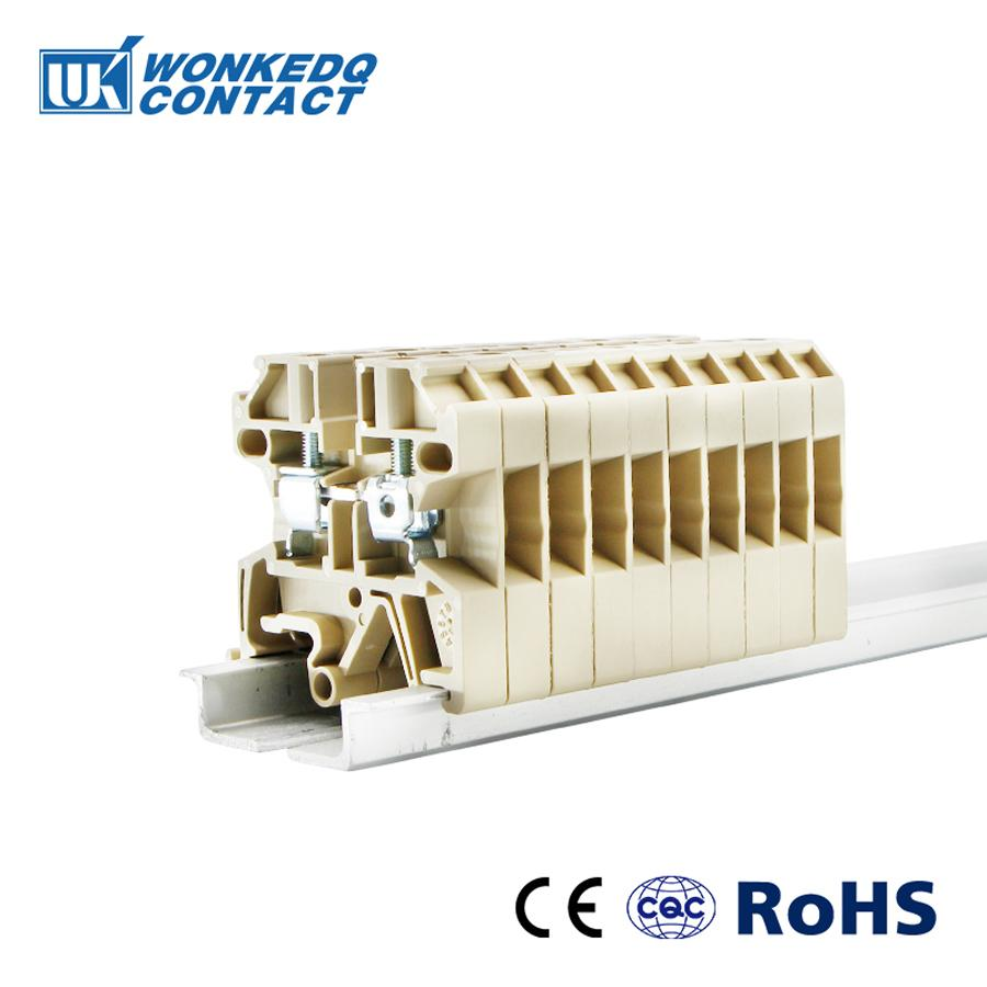 Din Rail Terminal Blocks SAK-2.5EN Weidmuller Connectors Screw Connection Conductors SAK2.5EN 10pcs(China)
