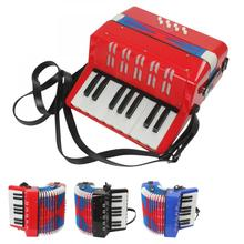 Accordion Mini Educational Musical Instrument 17 Keys 8 Bass Toy Accordion for Kids Children