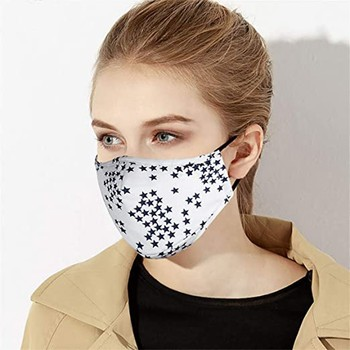 Anti-pollution cotton mask printed