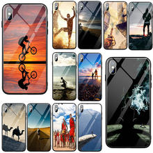 Tempered Glass Cell Phone Cases for iPhone 5 5S SE X XR XS 11 Pro Max 7 6 6s 8 Plus Coque Shell Hot People of All Nationalities(China)