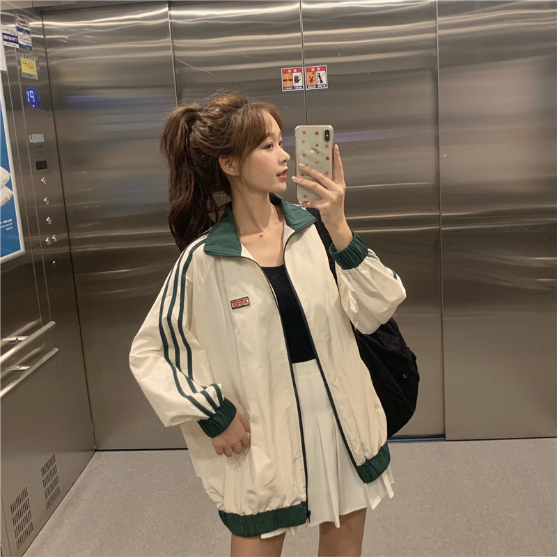 Harajuku Women   Jackets   And Coats Spring Autumn Long Sleeve Casual   Basic     Jacket   Female Outwear Zipper Fashion BF Hip Hop Tops