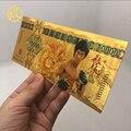 Новая золотая цветная банкнота Kungfu суперзвезда Брюс Ли 100 необычная Золотая фольга цветная банкнота для коллекции ценностей с конвертом