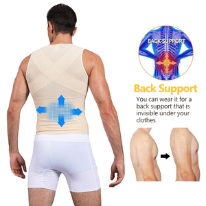 Image 4 - Mens Shapewear Bodysuit Full Body Shaper with Zipper Compression Slimming Suit Breathable Shirt Slim Mens Shapers
