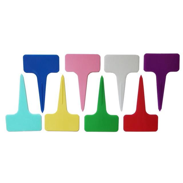 16 قطعة البلاستيك T نوع حديقة مصنع تسميات البستنة زهرة الكلمات الدفيئة الحضانة صينية شتلات علامات مزيج الألوان