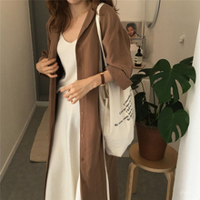 2020 Fashion Trench Coat For Women Silm Loose Lapel Over The Knee Trench Coat Ladies Sunscreen Trench Coat Clothing For Women cheap GAOKE Full Broadcloth Casual Polyester COTTON Button Solid Long Turn-down Collar Single Breasted Wide-waisted Thin coat