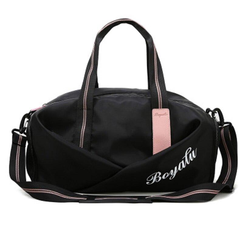 Women Fitness Training Sports Bag Wet And Dry Separation Short-Distance Travel Billiard Shoulder Net Red Travel Bag Tide 2019