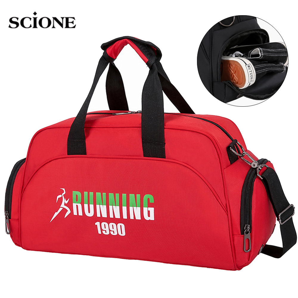 Dry Wet Gym Bag Sports Fitness Handbag Women Shoes Storage Lady Traveling Nylon Tote Deporte Mujer Sac De Sportts Gymtas XA986WA