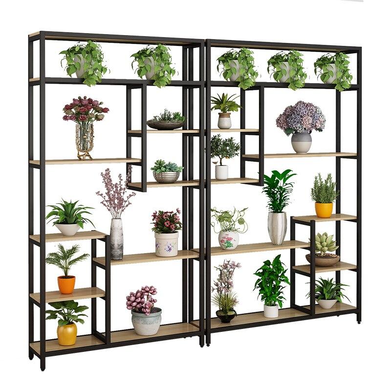 Multi-storey Room Introspection Space Balcony Shelf Flowerpot Frame A Living Room Flower Rack Meaty Green Luo Florist Iron Art