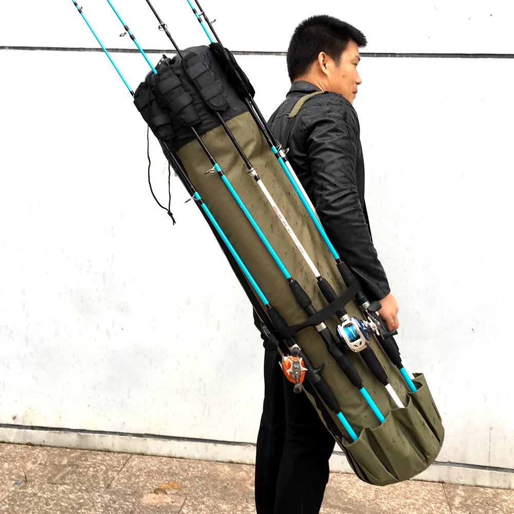Fishing Bag Folding Fishing Rod Reel Bag Fishing Tackle Storage Bags Travel Carry Case Pesca