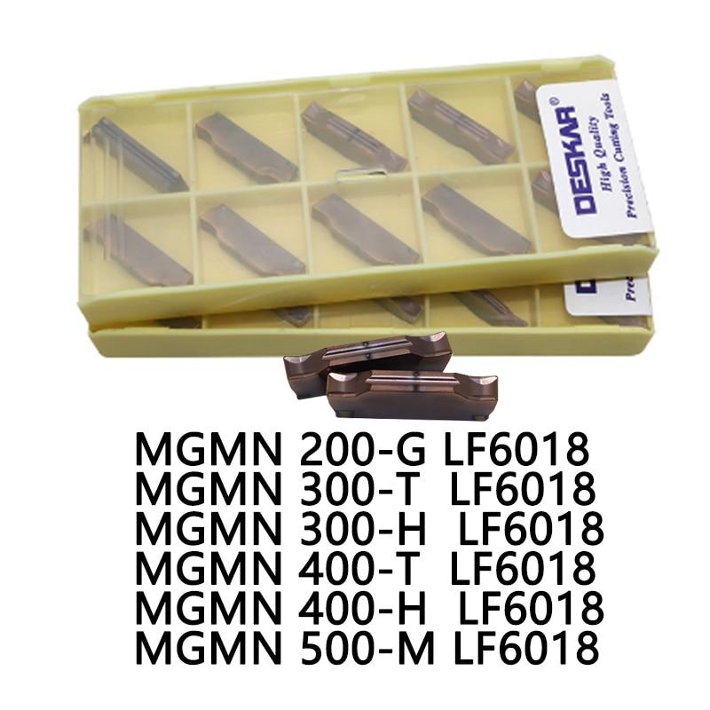 MGMN200-G LF6018 300-T 300-H 400-T 400-H 500-M LF6018 DESKAR CNC Lathe Grooving Turning Carbide Insert For Stainless Steel