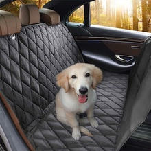 CAWAYI KENNEL Luxury Dog Carriers Waterproof 600D Oxford Pet Car Seat Cover Rear With Anchors Hammock PS6893