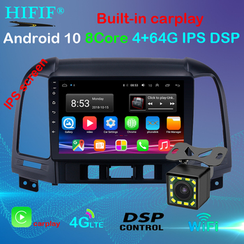For Hyundai Santa Fe 2 2006-2012 2+32G Android 10 9 2din Car Radio Multimedia Stereo Audio Player GPS Head Unit HiFi image