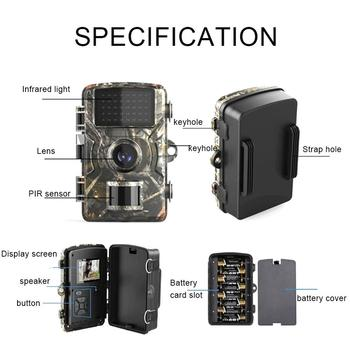 12MP 1080P Trail Hunting Camera Wildcamera Wild Surveillance HT001B Night Version Wildlife Scouting Cameras Photo Traps Track 6