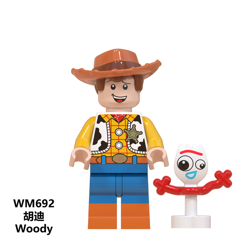 Image 5 - Disney Toy Story4 Movie Characters Action Figure Buzz Lightyear Alien Bonnie Woody Jessie Ducky Duke Caboom Building Blocks Kid-in Action & Toy Figures from Toys & Hobbies
