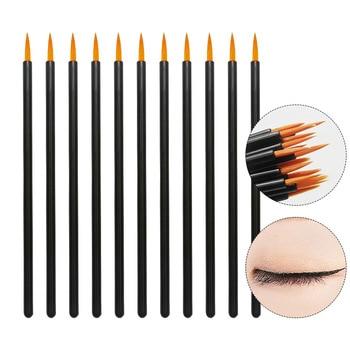 50pcs Nylon Disposable Eyeliner Brush Beauty Nail Brush Makeup Tools Lipliner brush Applicator Black Makeup Brush Accessories недорого