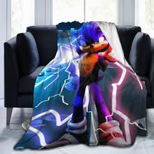 Sonic Sherpa Blanket Bedspread Velvet Plush Soft Comfortable Home Camping Aircraft Blanket