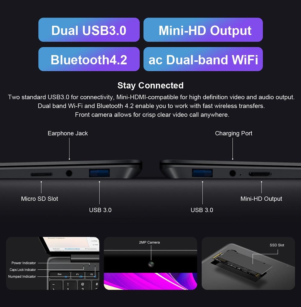 Teclast F15S 15.6 Inch IPS Laptop 1920x1080 FHD PC Windows 10 Notebook 8GB RAM 128GB ROM Intel Apollo Lake Dual Wifi-5