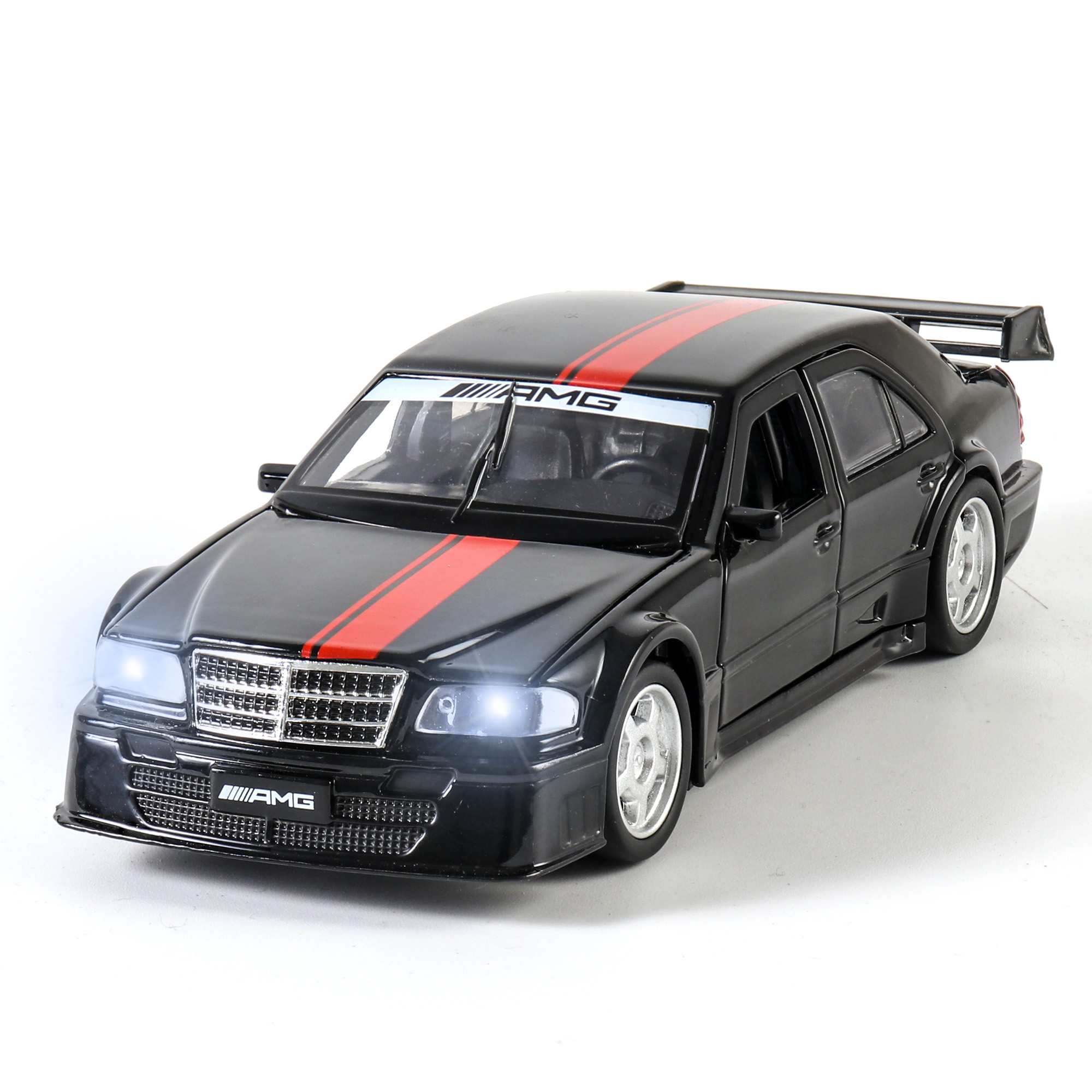 1:32 Mercedes C-CLASS AMG DT Diecast Toy Vehicle Sound And Light Alloy Toy Car Model Toys For Children Gifts Car Genuine License