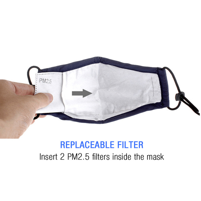 Cute PM2.5 Washable Cotton Mouth Mask With 2 Filters Kids Anti Haze Dust Mask Nose Filter Face Muffle Bacteria Flu Respirator 4