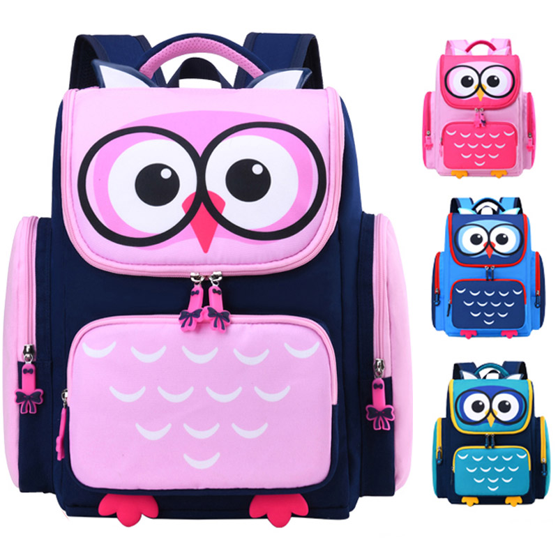 2020 Cute Kid Owl School Bags Backpack Teenager Children Girls Boys Schoolbag Cartoon Animal Bag Kids Book Bag Nylon Mochila