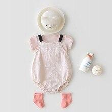 Bebê recém-nascido macacão verão infantil menino menina macacão roupas novo estilo 100% algodão roupas da criança adorável bebê outfits