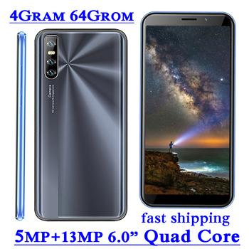 13MP M2 Pro odblokowany 4GB pamięci RAM 64GB ROM 6 0 #8222 ekran Face id smartfon czterordzeniowy globalnego telefonów komórkowych telefonów z systemem Android celulares tanie i dobre opinie BYLYND Odpinany CN (pochodzenie) Rozpoznawania twarzy Do 48 godzin 3200 Adaptacyjne szybkie ładowanie Smartfony Bluetooth 5 0