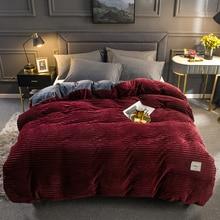 1 шт., зимнее теплое мягкое двустороннее плюшевое одеяло, волшебное плотное пуховое одеяло, одеяло/одеяло, чехол, полный размер, королева, король