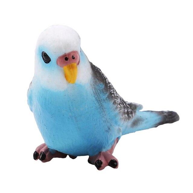 Plastic Bird Model Animal Wildlife Statue Simulation Parrot Exquisite Gift Vivid Figurine Artificial Home Decor 6