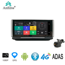 Anfilite 7 Inch 4G Adas Android Auto Dashboard Dvr Gps Navigatie 1080P Dual Lens Dash Camera Parking Monitor auto Video Recorder