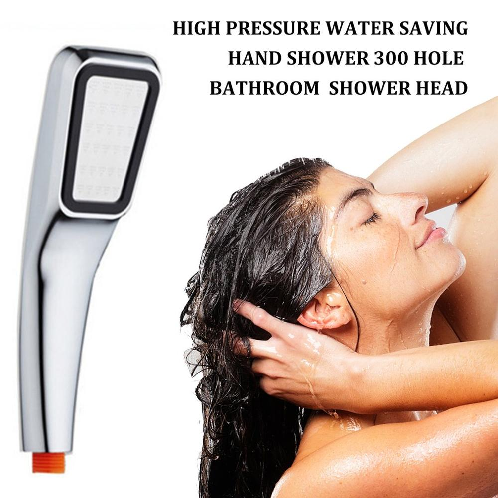 300 Hole Square Shower ABS Head Super Pressurized Shower Head Bathroom Rainfall Shower High Pressure High Quality Water Saving