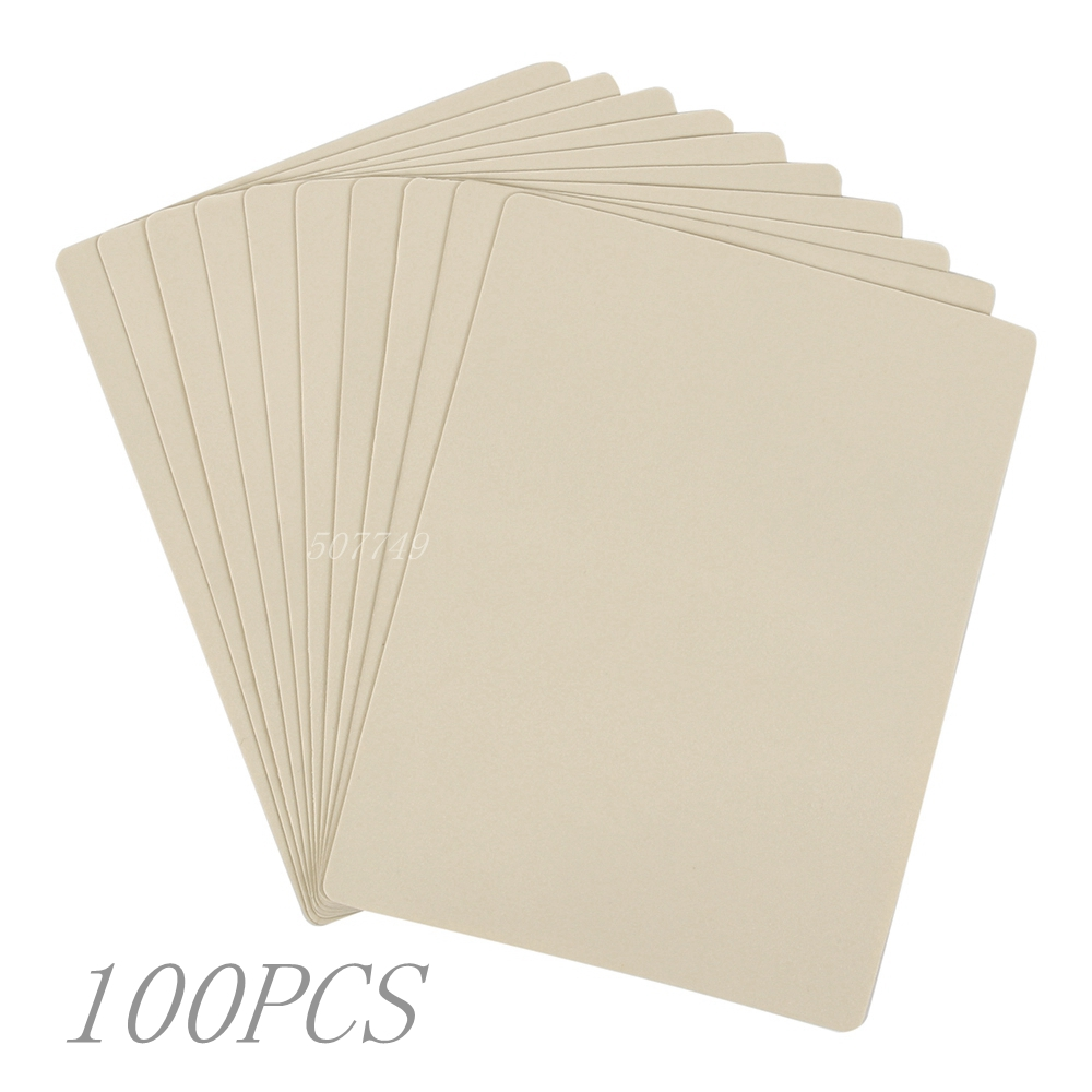 100pcs 20x15cm Tattoo Practice Skin Synthetic Blank Tattoo Practice Skin Sheet For Needle Machine Supply Drop Shipping