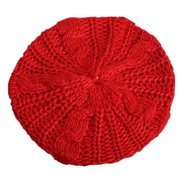 2019 新暖かい冬の帽子ファッション女性ベレー帽ニット帽子多色保温ソフトふわふわキャップ女性 IR ing