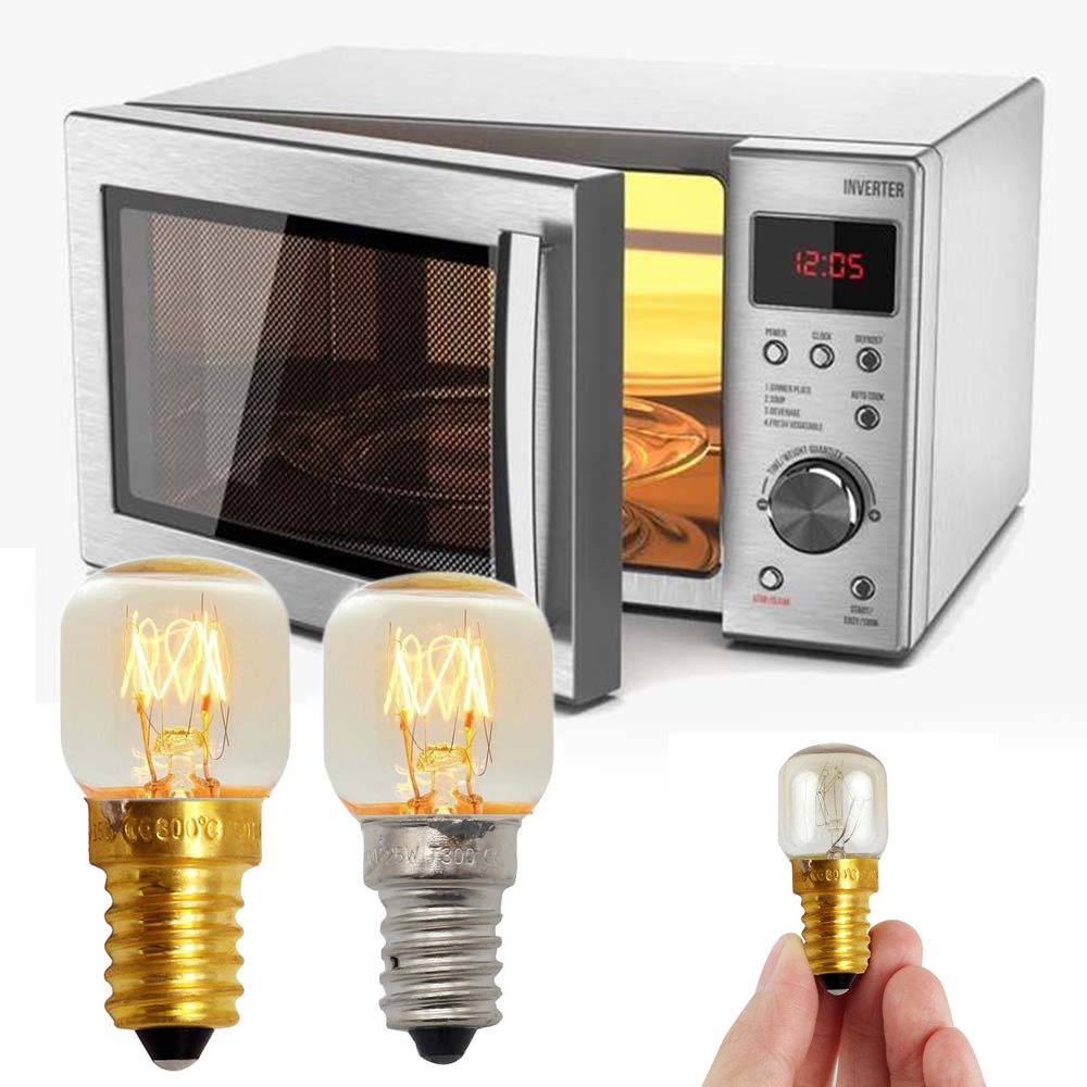 220V E14 High Temperature Bulb Microwave Oven Toaster 300 Degree Bulb Steam Light Bulb Cooker Tungsten Filament Lamp Bulb