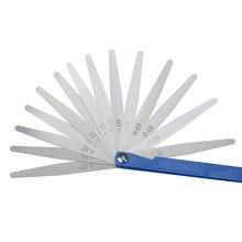 Shahe portátil 17 lâminas calibre de feeler 150 mm comprimento medidor de medição métrica 0.02-1.00mm