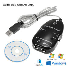 New guitar to USB interface link cable audio adapter effect connector recorder for PC/MAC computer